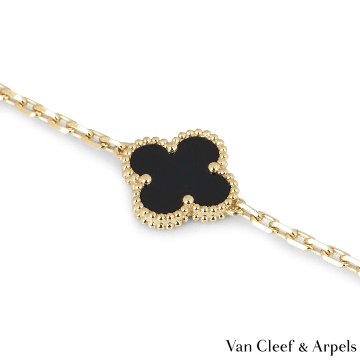 Van Cleef and Arpels Black Onyx Vintage Alhambra Bracelet VCARA41300